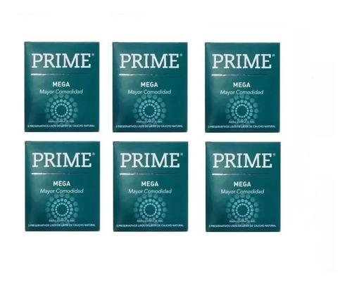 preservativos prime mega 6 cajitas x 3 mas anchos