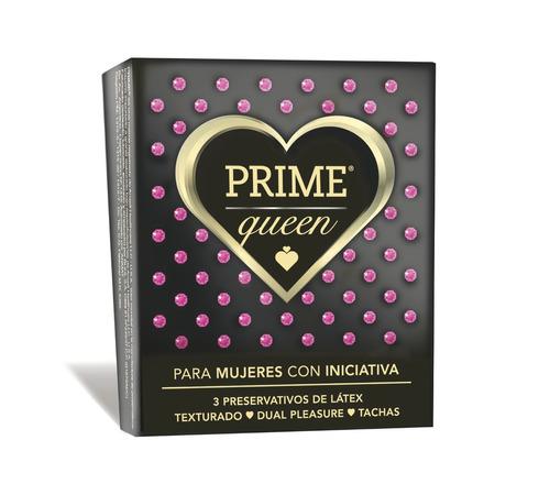 preservativos prime queen x3 dual placer tachas texturado