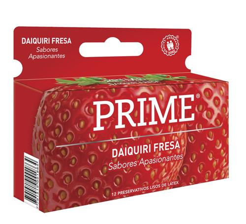 preservativos prime saborizado x12 sabor daiquiri fresa