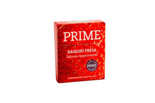 preservativos prime saborizado x72 sabor diquiri fresa