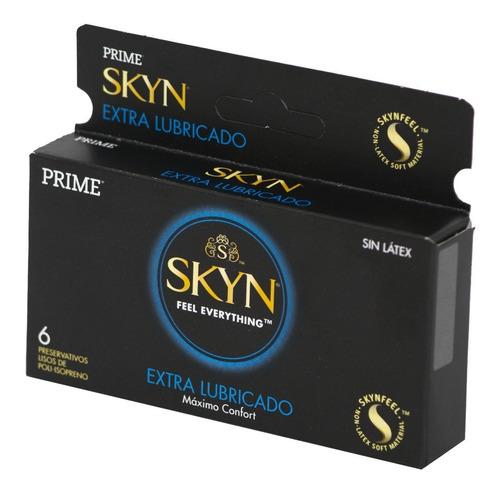 preservativos prime skyn extra lubricado x6 un. super suave