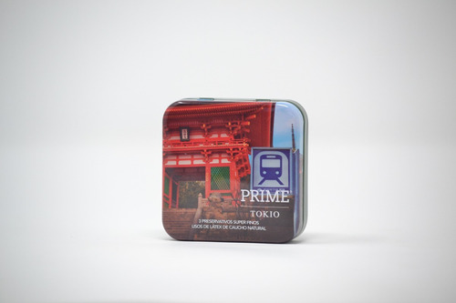 preservativos prime super fino x3 sexy box ciudades tokio