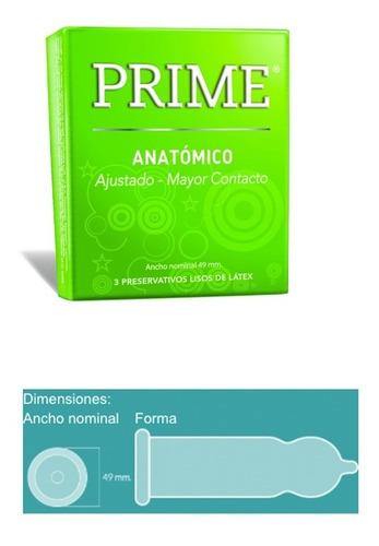 preservativos prime surtidos x72 un. + gel hot pleasure 22gr