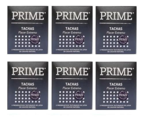 preservativos prime tachas 6 cajitas x 3