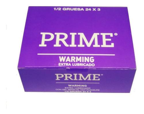 preservativos prime warming 24 cajitas x 3 preservativos