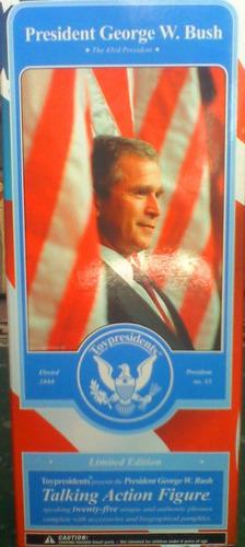 presidente george w bush figura que habla