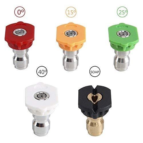 5 Pack de hidrolavadora de alta presion de la punta de la boquilla de pulveri