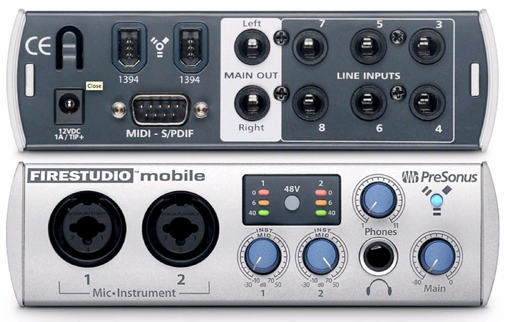 Presonus Fire Studio Mobile 10x6 Firewire + Studio One