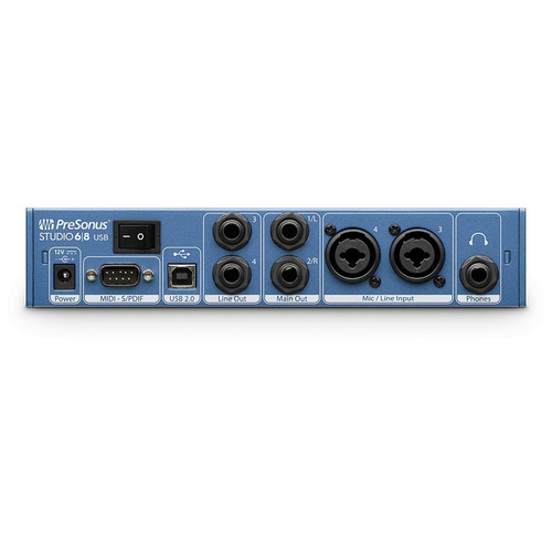 presonus studio 68 usb interface placa audio midi
