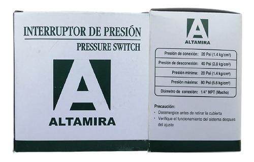 presostato / interruptor de presion de 20 a 40 psi