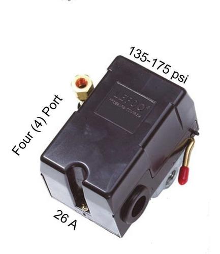 presostato switch de presion  4 vias lefoo 135-175 psi
