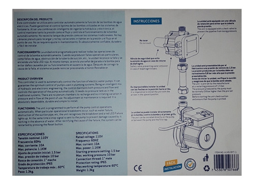 press control para encendido/apagado automatico de bombas