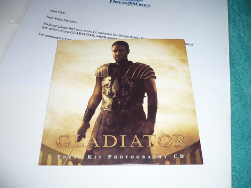 press kit usa promocional filme gladiador russell crowe top