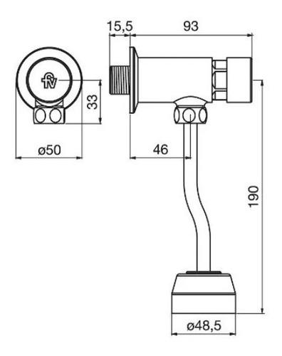 pressmatic valvula automatica mingitorio fv 0373.01