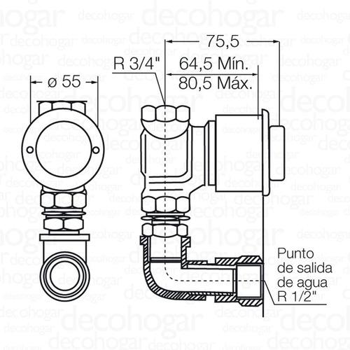 pressmatic valvula automatica mingitorio fv antivandalica