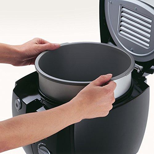 presto 05442 cooldaddy cool-touch deep fryer - negro