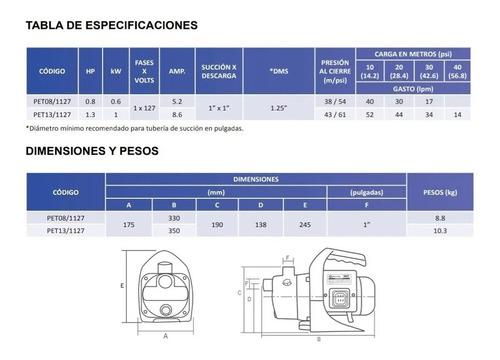 presurizador automatico hidroneumatico  aquapak  1.3hp110v