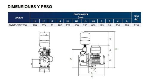 presurizador hidroneumatico fix drive 1.5 hp