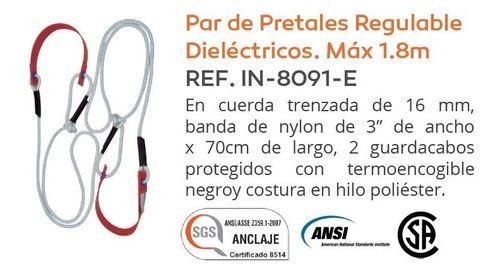 pretales regulables dielectricos en cuerda 16mm subir postes