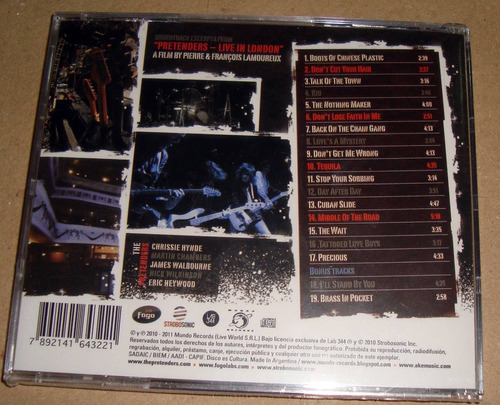 pretenders live in london cd sellado  / kktus