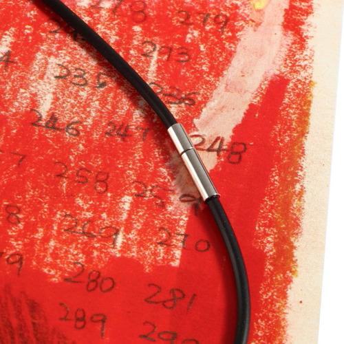 preto borracha inoxidável aço link cordão colar cadeia luxo