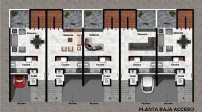 preventa 4 casas de 3 niveles colonia alamos