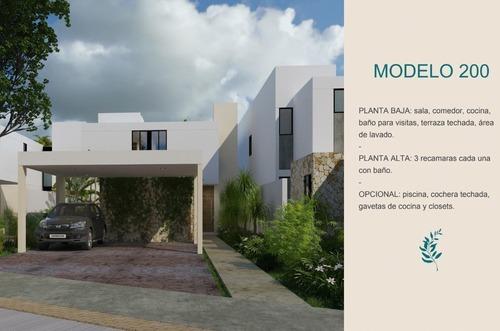 preventa casa de 600 m2 de terreno en privada aleza, conkal