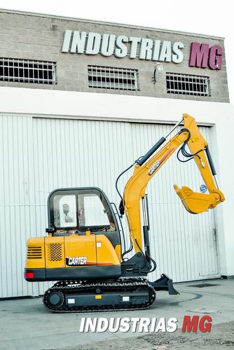 preventa nueva mini excavadora sobre orugas jmv 4500kg