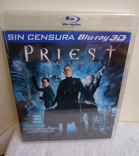 priest el vengador sin censura pelicula en blu-ray 3d