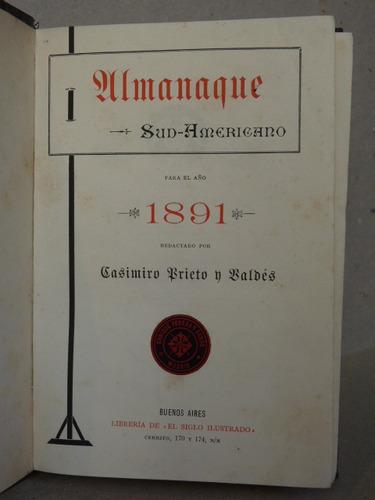 prieto y valdés, c. almanaque sud-americano para el año 1891