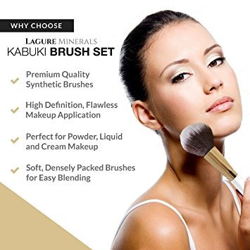 prima kabuki cepillo del maquillaje - los cepillos del maq