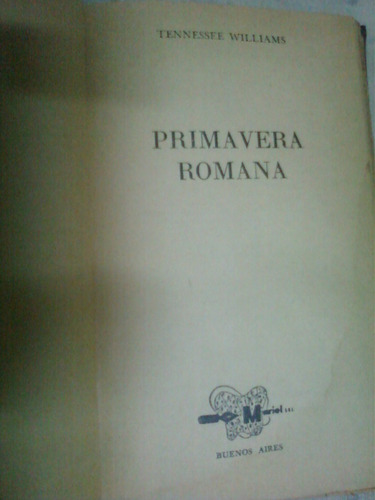 primavera romana - tenesse williams -
