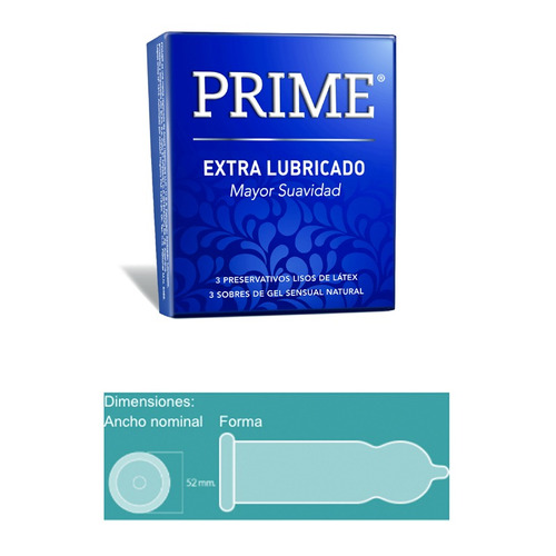 prime fantasy 3 + 12 preservativos extra lubricado y dual