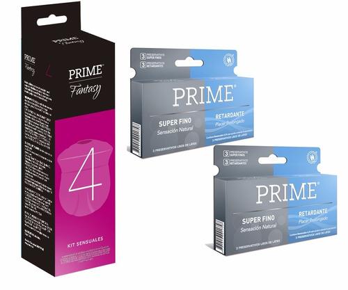 prime fantasy 4 + 12 preservativos super fino y retardante