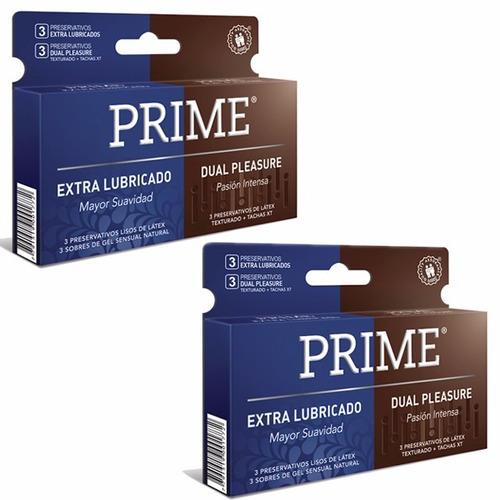 prime fantasy 6 + 12 preservativos extra lubricado y dual