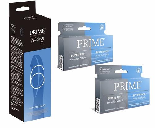 prime fantasy 6 + 12 preservativos super fino y retardante