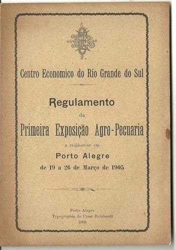 primeira exposição agro-pecuária-porto alegre-1905-12p.