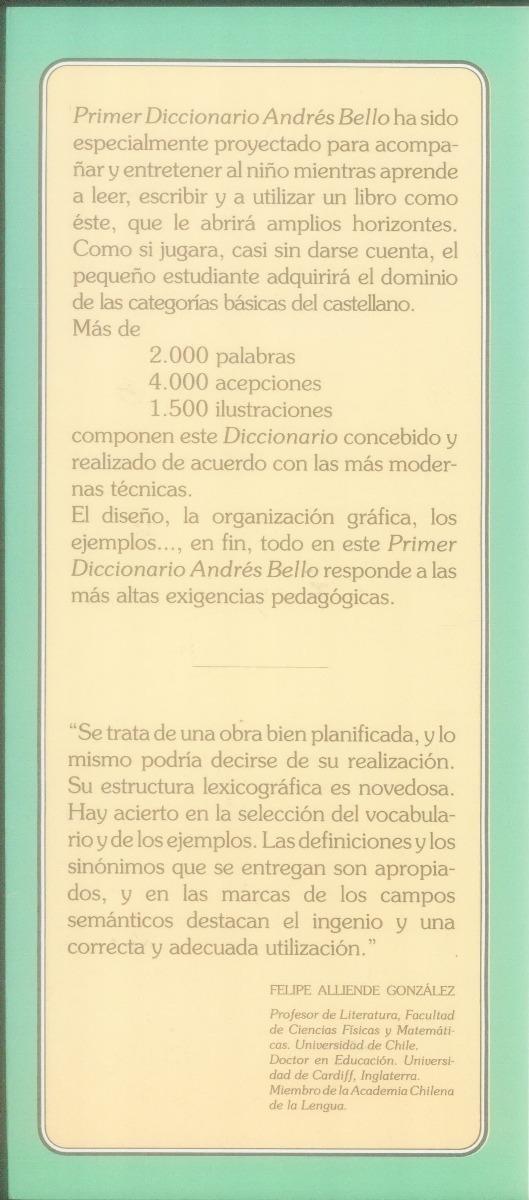Primer Diccionario Infantil Ilustrado Andrés Bello 200 00