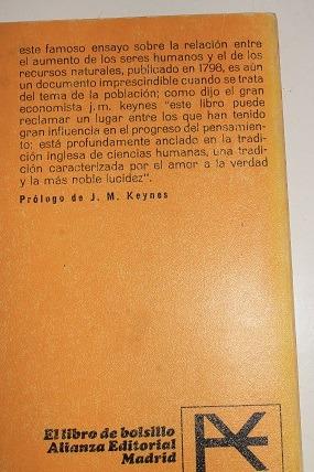 primer ensayo sobre la poblacion
