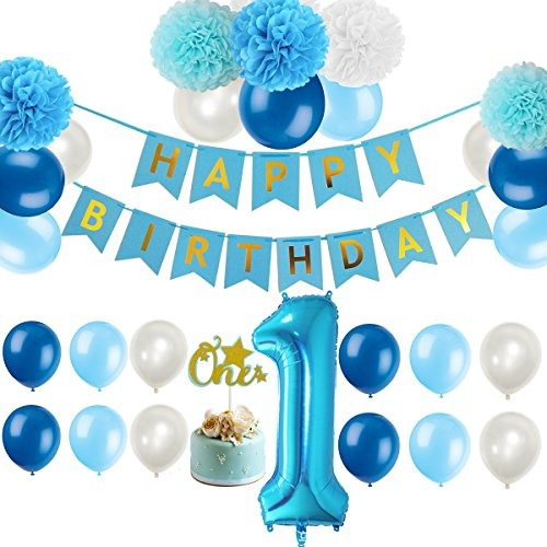 Primer kit de decoraciones para ni o de 1er cumplea os - Decoracion primer cumpleanos ...