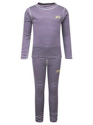 primera capa set camiseta + calza rallada lila kozi kidz