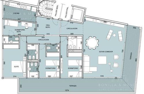 primera fila de la brava, edificio blue bird, 3 suites, toilette, dependencia, 2 garages