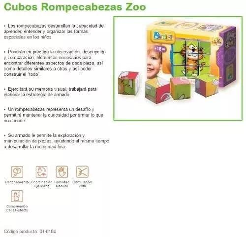 primeros bloques rompecabezas zoo bimbi dimare