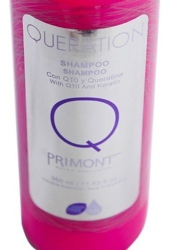 primont shampoo queration con q10 y queratina x 350ml