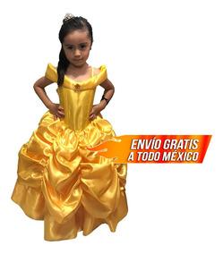 Princesa Bella Disfraz Niña Vestido Elsa Sofia Rapunzel Toys