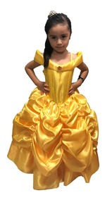 Princesa Bella Disfraz Vestido Niña Elsa Sofia Rapunzel Toys