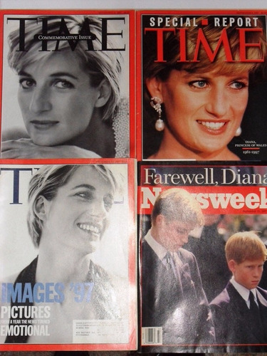 princesa diana 5 revistas time\newsweek
