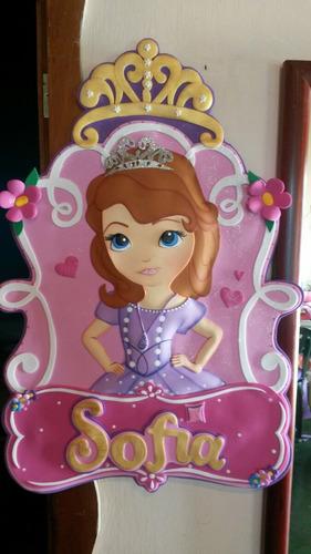 princesa sofia nombres en foami fiestas para decorar