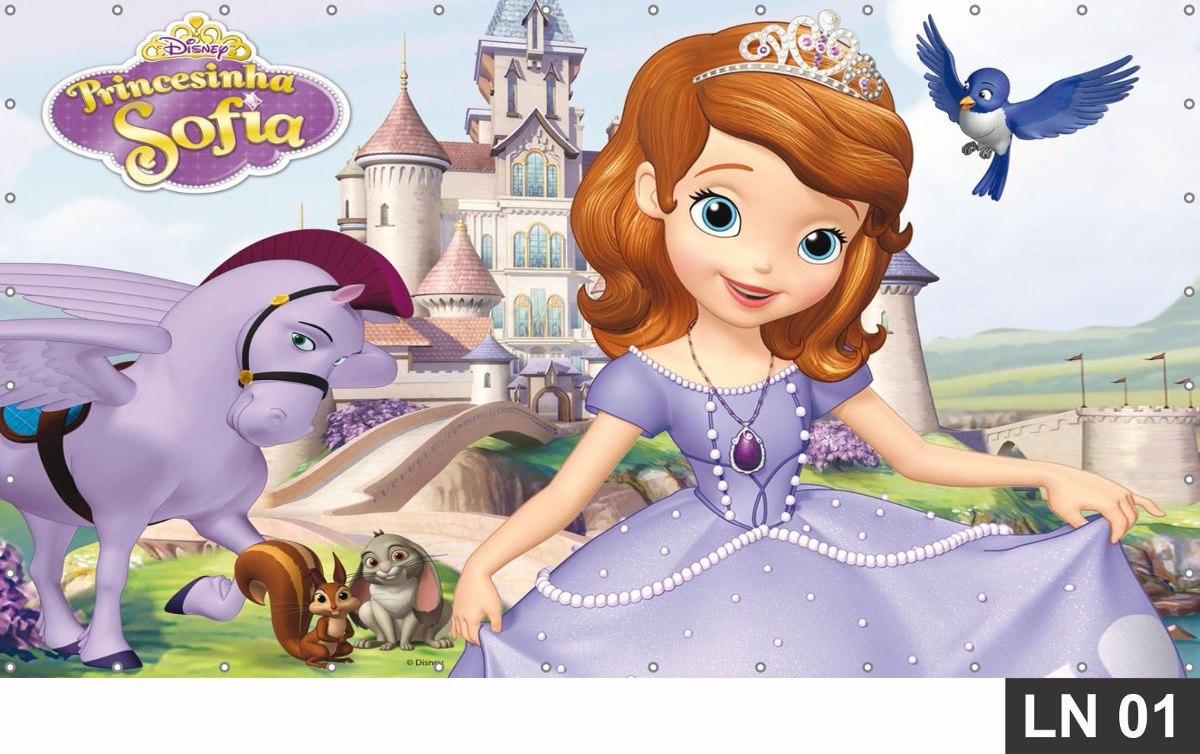 Princesa Sofia Painel 1,50x1,0 Lona Festa Banner