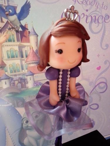 princesa sofia souvenir lapicera decorada porcelana fria